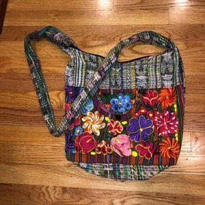 BOHO floral cross body shoulder bag, floral